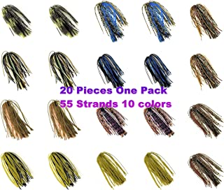 Wtrees #2700 Best Bass Jigs Set Kit Bulk with Trailers