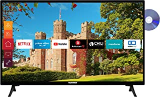 Telefunken XH32J511D 32 inch televisie (Smart TV incl. Prime Video/Netflix/YouTube, HD ready, DVD-speler, Works with Alex...