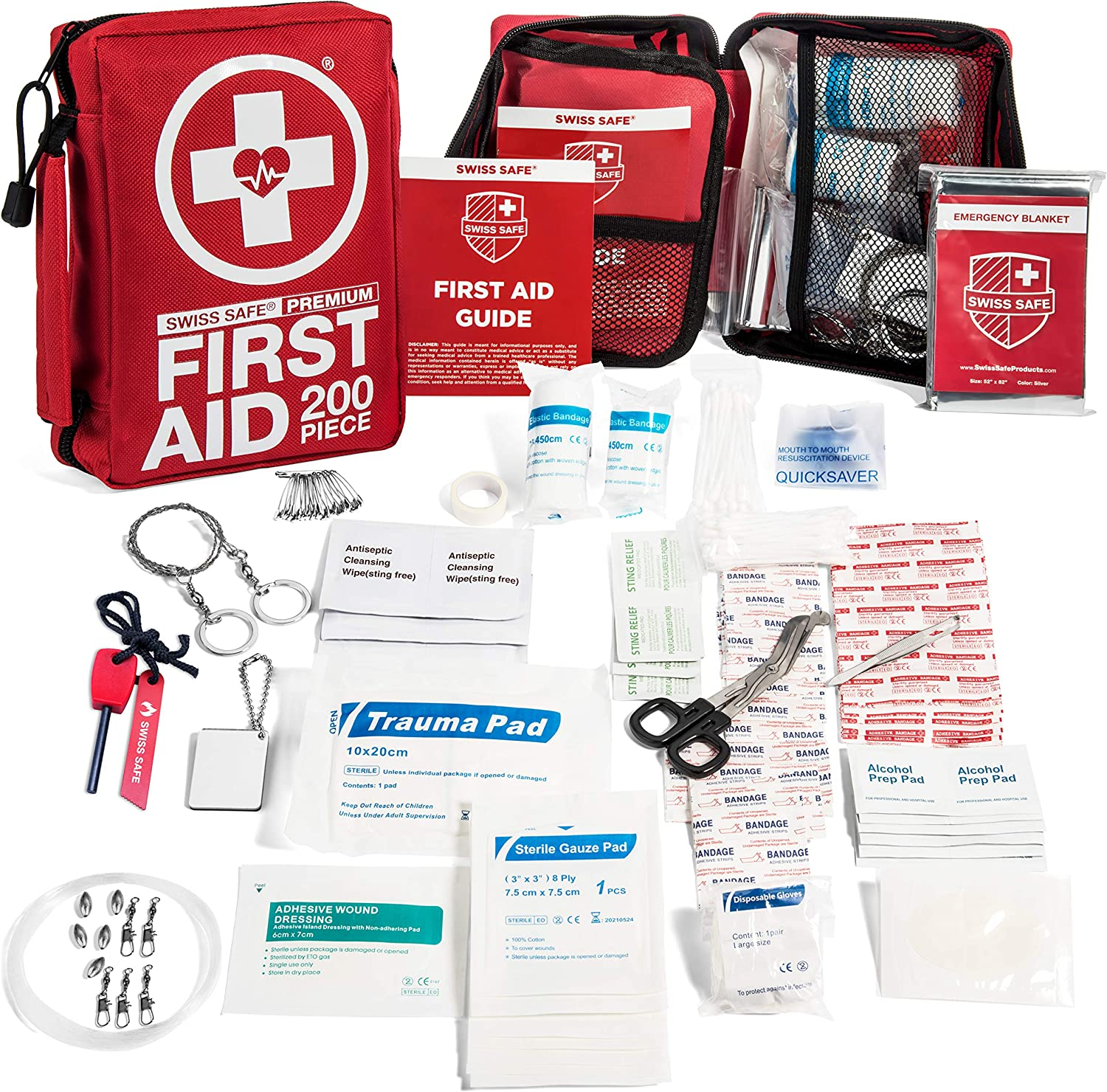 200-Piece Professional First Aid Kit for : Max 73% OFF Work Limited time trial price Car or Home Plu
