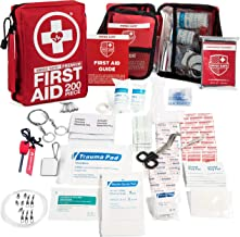 200-Piece Professional First Aid Kit for Home, Car or Work : Plus Emergency Medical Supplies for Camping, Hunting, Outdoor...