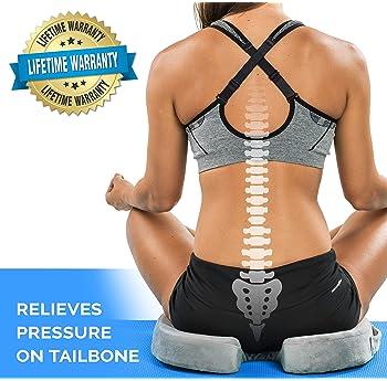 ComfiLife Gel Enhanced Seat Cushion - Non-Slip Orthopedic Gel & Memory Foam Coccyx Cushion for Tailbone Pain - Office...