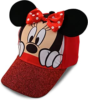 Girls Minnie Mouse Cotton Baseball Cap 3D Ears Glitter...