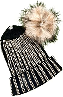 Urban Tails Women's Winter Hat Warm with Detachable Pom Knit Beanie Hat