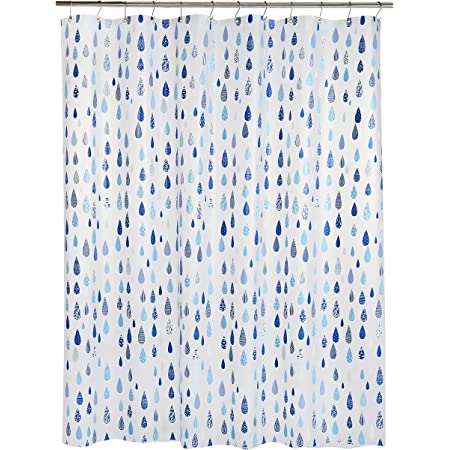 turchese e giallo Tenda bagno resistente Tenda per vasca da bagno quadrata 183 cm x 183 cm mDesign Tenda per doccia con elegante motivo a medaglione