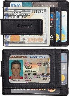Casmonal Money Clip Slim Minimalist Front Pocket Mens Wallet