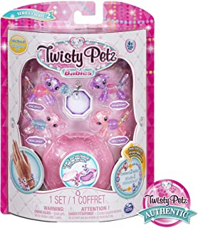 Twisty Petz, Series 2 Babies 4-Pack, Koalas and Puppies Collectible Bracelet and Case (Pink) for Kids