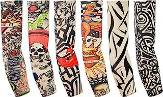Balinco 6 Stück Tattoo Ärmel Arm Tattoo Strumpf Herren Dam
