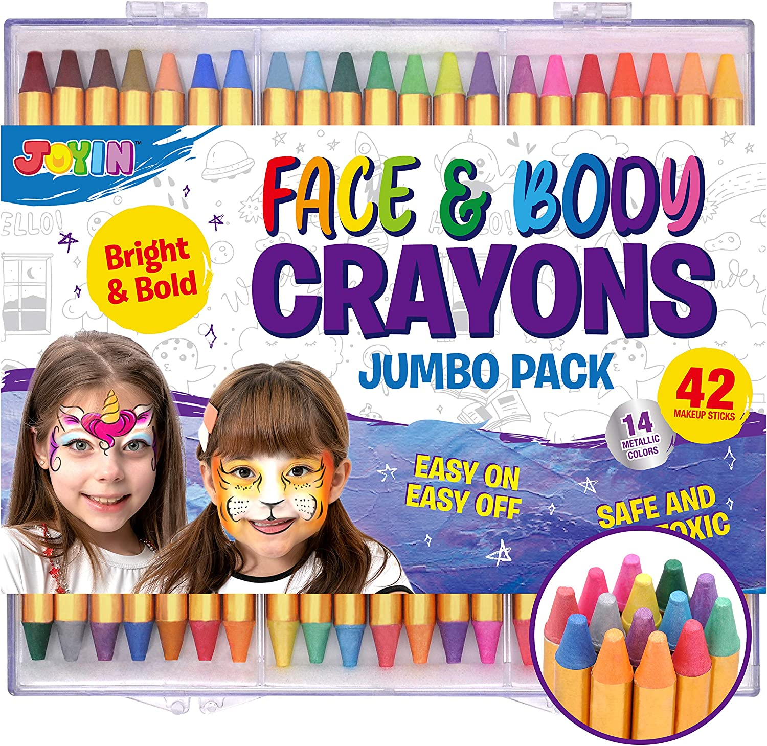 42pcs Face and Fees free!! Body Paint Crayons Safe Painting No Max 74% OFF Kit