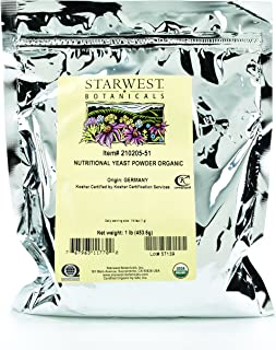 Starwest Botanicals Organic Nutritional Yeast Powder, 1 Pound