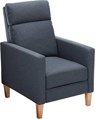 Christopher Knight Home Isla Recliner, Charcoal + Natural