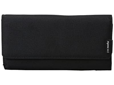 Pacsafe RFIDsafe LX200 RFID Blocking Clutch Wallet (Black) Wallet Handbags