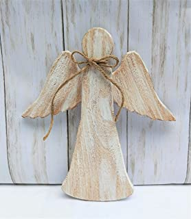 Angel Christmas Tree Topper White Rustic Wood Christmas Ornament Cedar
