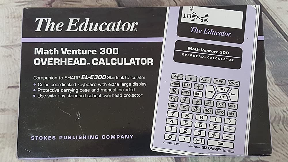 意志確保する内向きThe Educatorオーバーヘッド:計算機?–?Companion to Sharp el-e300学生電卓