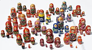 lots of nesting dolls