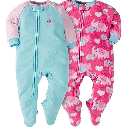 9f20bd1339 Gerber Baby Girls  2-Pack Blanket Sleeper