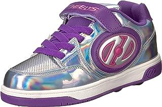 Heelys Girls' Plus X2 Tennis Shoe, Silver/Purple/Pink, 13c M US Little Kid