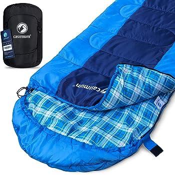 Leichter und wasserdichter 4-Jahreszeiten-Outdoor-Schlafsack mit Kompressionssack f/ür Camping//Reisen//Wandern//Rucksacktouren Oudort Schlafsack f/ür Erwachsene und Kinder
