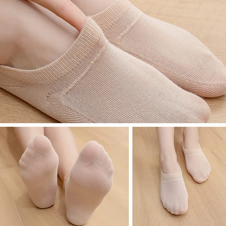 Soxbang Magic Thin No Show Socks 6/12 Pairs Women Non Slip Low Cut Casual Socks Liners