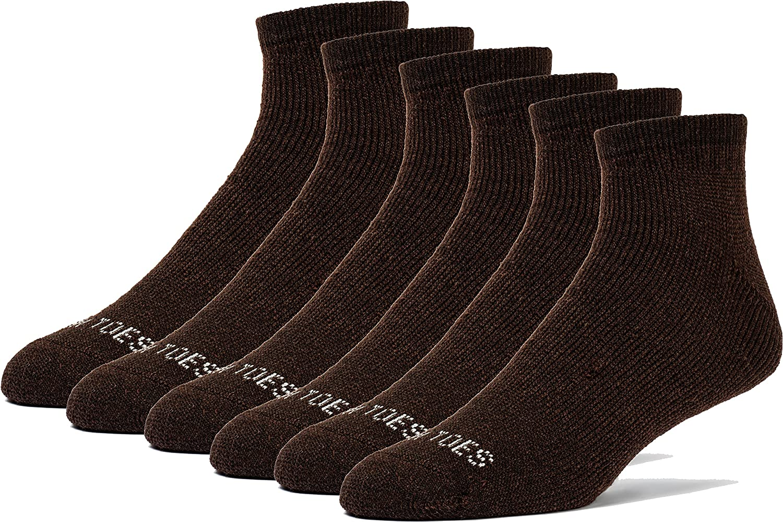 FUN TOES Men's Merino outlet Elegant Wool Hiking Perform Socks 6 Trailing Pairs