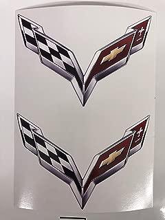 2 Corvette C7 Decals by SBDdecals (3 inch)