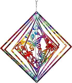 Dawhud Direct Kinetic 3D Butterfly Metal Garden Wind Spinner