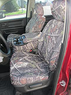 Durafit Seat Covers, D1332-NCL C, 2013-2018 Dodge Ram 1500/2500/3500, Front Car Seat Covers, 40/20/40 Split Bench, Opening 20 Section seat Bottom with Opening Console in in New Conceal Camo, Endura.