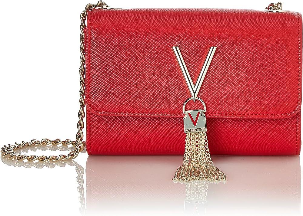 Mario valentino divina, borsa a tracolla per donna, in pelle sintetica pu con finiture in metallo color oro VBS1IJ03