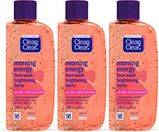 Clean & Clear Morning Energy Facewash, Berry, 100ml (Pack Of 3)