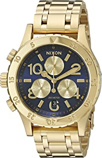 Nixon Women's A4042216-00 38-20 Chrono Analog Display Japanese Quartz Gold-Tone Watch