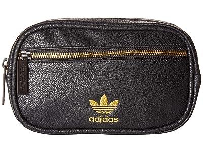 adidas Originals Originals PU Leather Waist Pack (Black/Gold) Bags