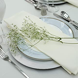 Kadut Cloth Dinner Table Napkins (12 Pack)   17 x 17 Inch Table Linens Made from Stain & Wrinkle Resistant Polyester   Fab...