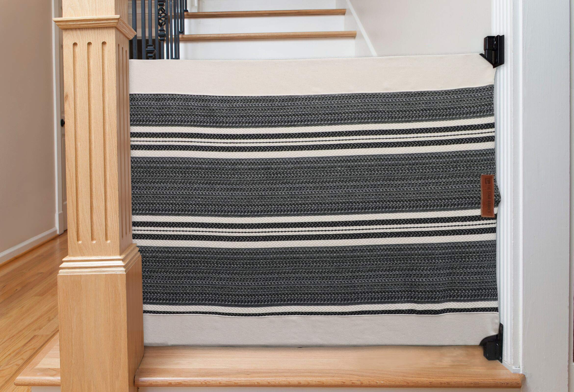 The Stair Barrier Baby And Pet Gate Banister To Wall Baby Gate Safety Gates For Kids Or Dogs Fabric Baby Gate For Buy Online In Aruba At Aruba Desertcart Com Productid 129693093