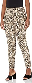 SLIM-SATION womens Pull On Print Twill Ankle Pant Pants