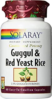 Solaray Guggul and Red Yeast Rice Supplement, 60 Count