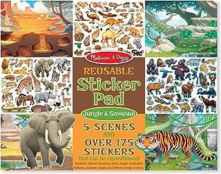 Melissa & Doug Reusable Sticker Pad: Jungle and Savanna - 175+ Stickers, 5 Scenes