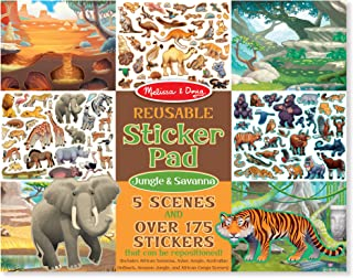 Melissa & Doug Reusable Sticker Activity Pad - Jungle & Savanna Toy