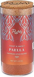 Rumi Spice Afghan Saffron Blend, Handpicked, Highest Rated World-wide, Sweet Smoky Seasoning for Entrees & Desserts, Taste of Luxury, Glass BPA Free Jar (Paella, 2.5 oz)