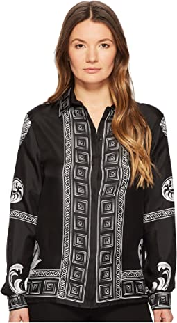 Camicia Donna Tessuto Long Sleeve Print Shirt