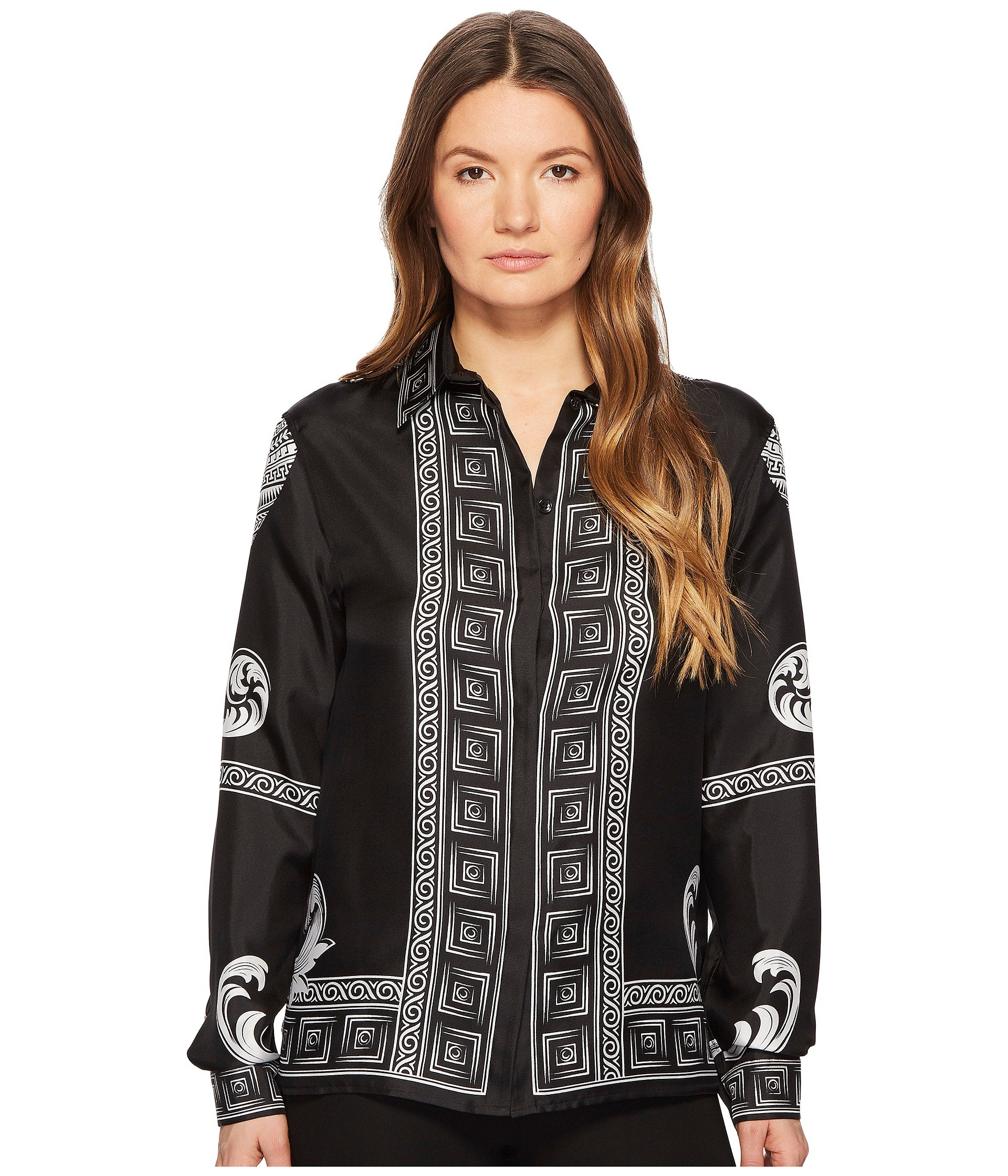 Blusa para Mujer Versace Collection Camicia Donna Tessuto Long Sleeve Print Shirt  + Versace en VeoyCompro.net