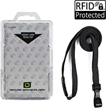 Secure Badgeholder Duolite and Lanyard Combo (Clear/Black)