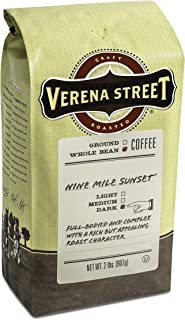 Verena Street 2 Pound Whole Bean Coffee, Dark Roast, Nine Mile Sunset, Rainforest Alliance Certified Arabica Coffee