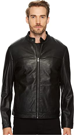 """26 1/2"""" Zip Front Moto Jacket with Removable Quilted Liner"""