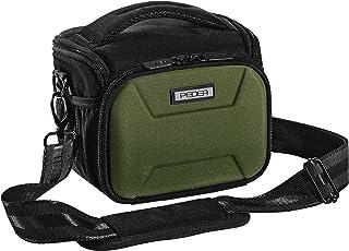 PEDEA DSLR Kameratasche 'Guard' Fototasche für Spiegelreflexkameras mit wasserdichtem Regenschutz, Tragegurt und Zubehörfächern, Gr. L grün