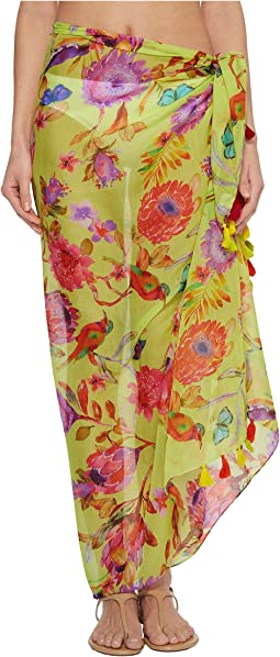 Echo Design - Melba Floral Tassel Pareo Cover-Up