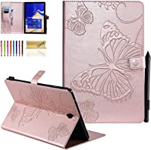 Galaxy Tab S4 10.5 Case, Dteck Slim Fit Embossed Butterfly Premium PU Leather Folio Stand Cover with Card Holders for Samsung Galaxy Tab S4 10.5-Inch (SM-T830 T835 T837) 2018 Tablet, Rose Gold