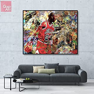 GoGoArt ROLL Canvas print wall art giclee home decor picture photo huge big poster abstract modern (no framed no stretched not oil painting) Michael Jordan nba sport Chicago bulls mvp ab A-0003-1.25