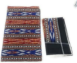 Ikkat India Handloom weaved sambalpuri bedsheets bedcover king size cotton linen double bed sheets8