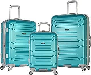 Denmark 3 Piece Luggage Set, Teal
