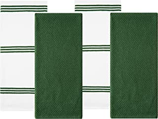 Sticky Toffee Cotton Terry Kitchen Dish Towel, Dark Green, 4 Pack, 28 in x 16 in