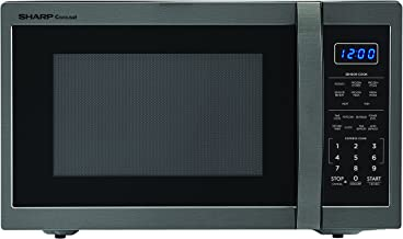 SHARP ZSMC1452CH 1,100 Watt Countertop Microwave Oven, 1.4 Cubic Foot, Black Stainless Steel